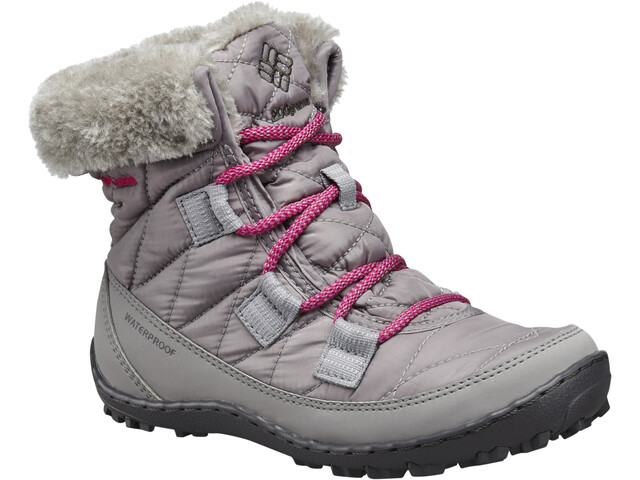 Columbia Minx Shorty Omni-Heat WP Zapatillas Niños, light grey/deep blush